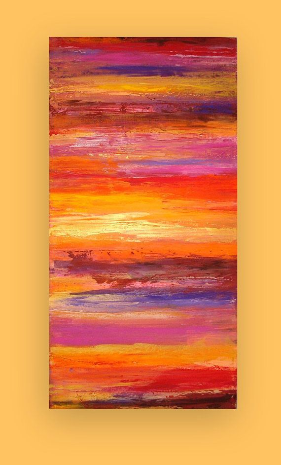This painting is just so pretty from the ombre' colors and the sunset like appearance