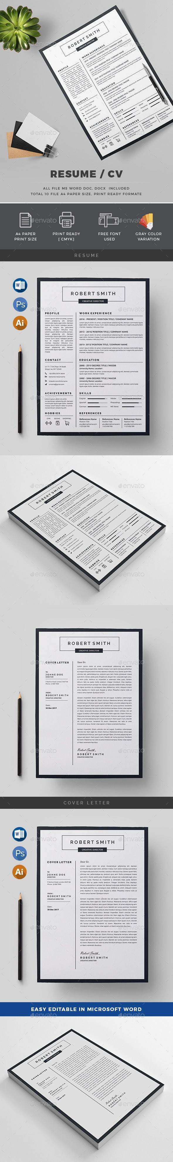 391 best • Resume, Invoice, Proposal Designs, Etc. images on ...