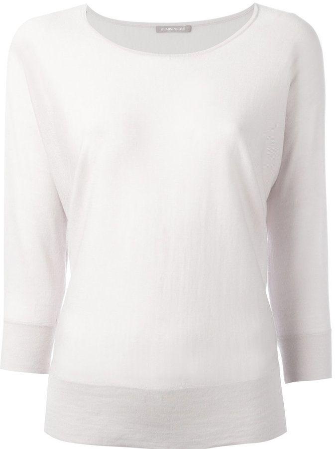Hemisphere plain sweatshirt