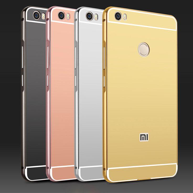 For Xiaomi Redmi 4 Pro Case Mirror Plating Aluminum Metal Bumper & Acrylic Back Cover Coque For Xiaomi Series