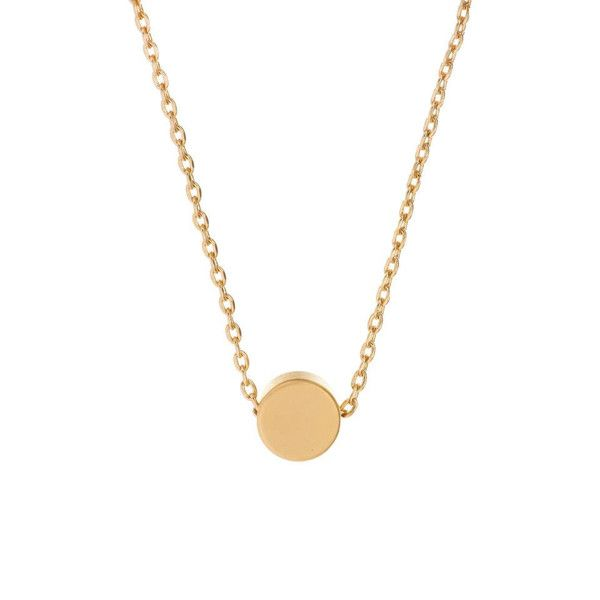 MINNIE GRACE gold Dot charm necklace | La Luce