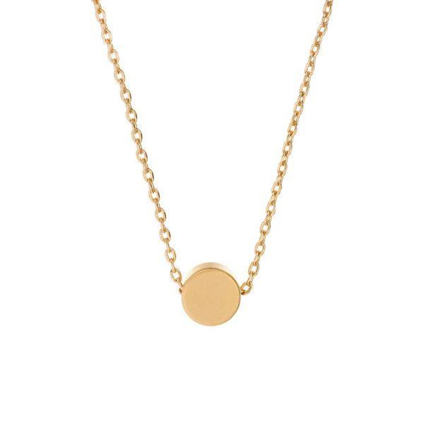 MINNIE GRACE gold Dot charm necklace | La Luce