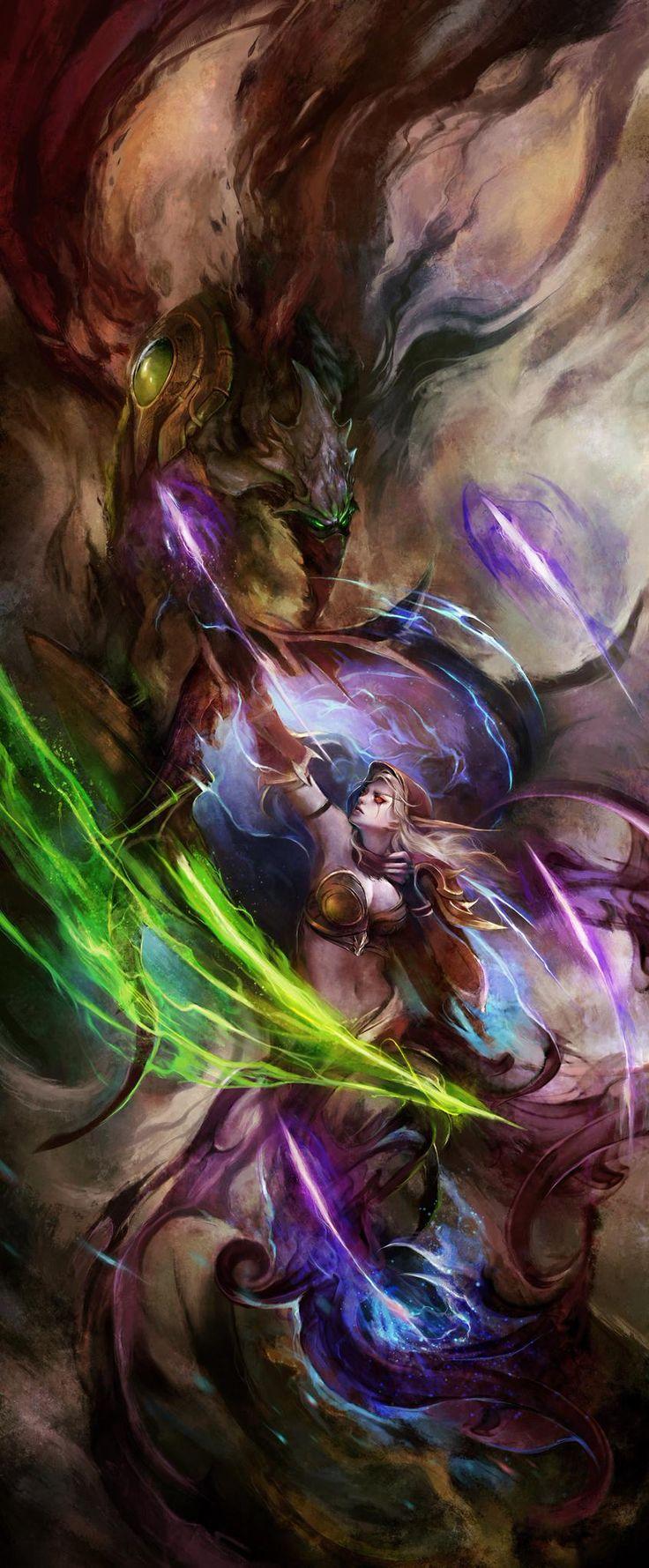 Heroes of the storm by Muju - Fantasy - Fashion - Fine Art - Conceptual - Comic - Illustration - Warrior - Gatekeeper
