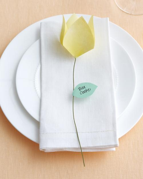 Origami Tulips!  I loved these, especially since I'm having a garden themed wedding.