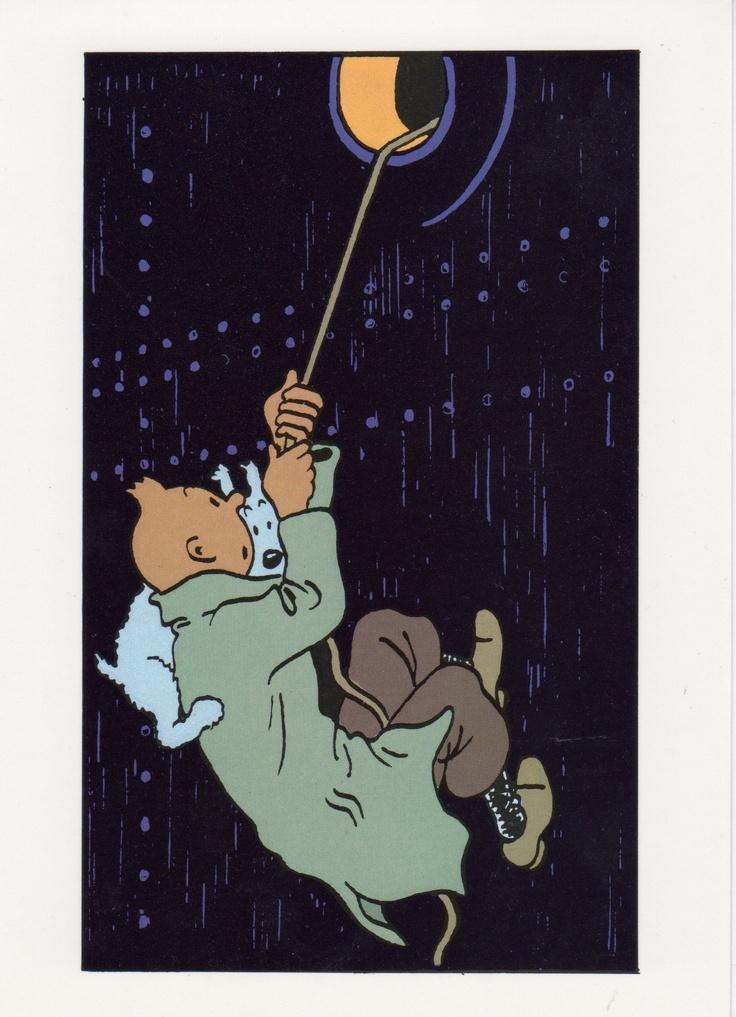 Le Crabe aux pinces d'Or - Tintin et Milou à la toute première rencontre avec le capitaine Haddock.