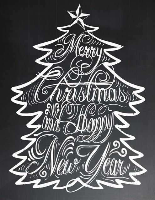 Free Holiday Chalkboard Printable | Instant download from ishouldbemoppingthefloor.com