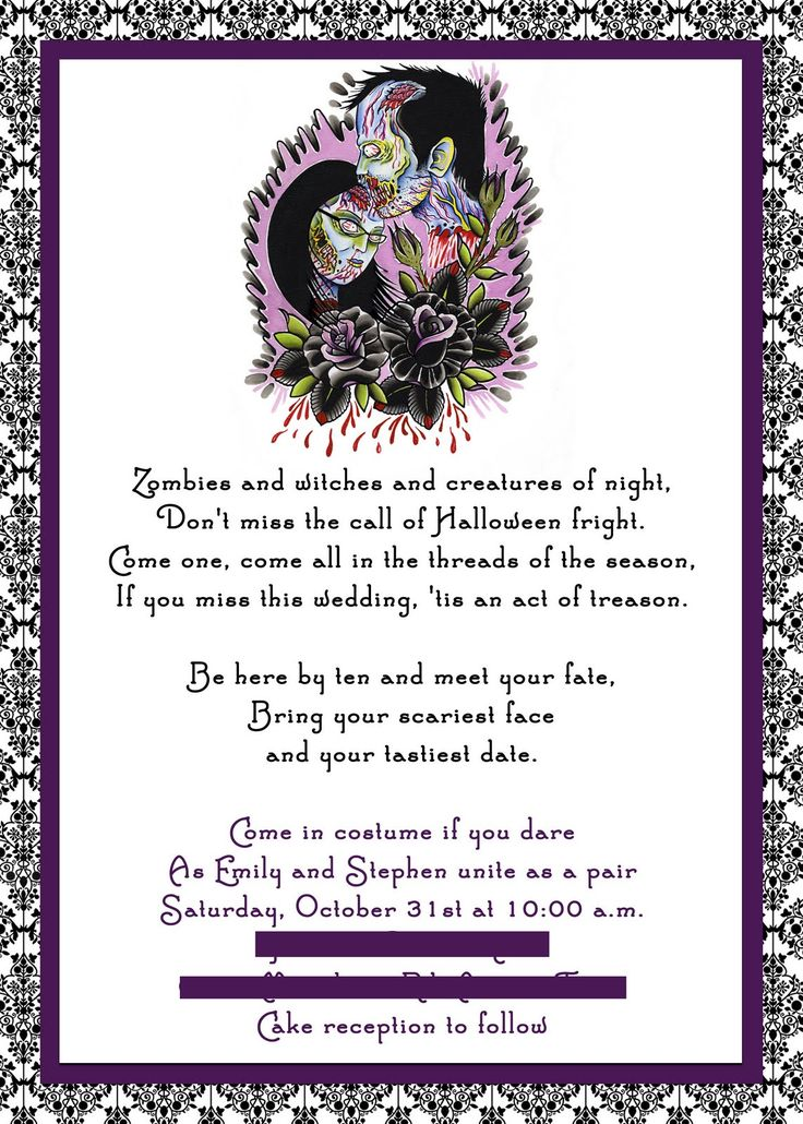 best 25+ halloween wedding invitations ideas on pinterest | gothic, Invitation templates