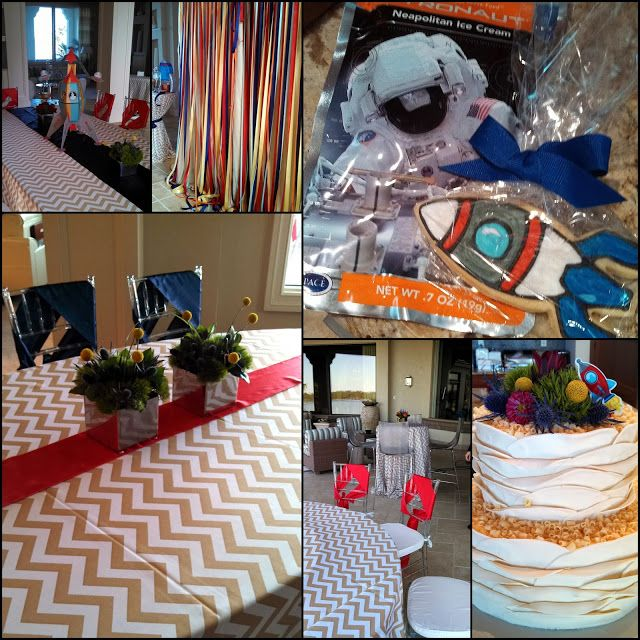 outer space themed baby shower for a boy www