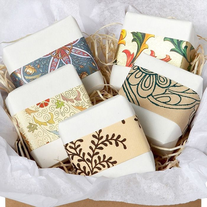 handmade soaps were creatively wrapped by Jessica of Angel Face Botanicals