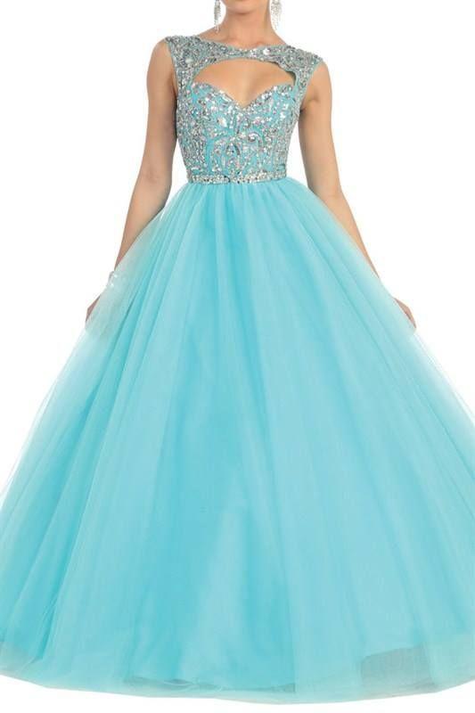 vestidos de 15 años color azul - Buscar con Google