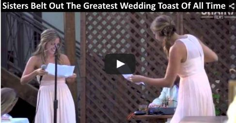 Wedding Speech Ideas For Sister In Law : ... sisters Kelsey and Maddie delivered one of the best wedding speeches