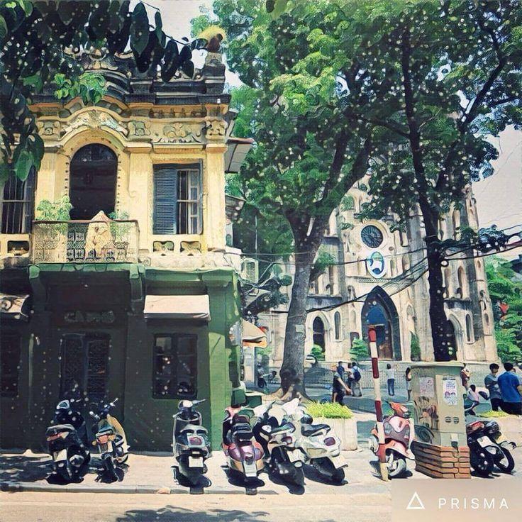 cây xanh nhà cổ như tranh họa đồ  photo by @jackbooyeah 📷 https://www.instagram.com/congcaphe/ ________________ #congnuacongmai  #wherewetakecofeeseriously #congcaphe #cộng #congcafe #art #decor #vintagestyle #hanoi #danang #saigon #nhatrang #haiphong #est2007