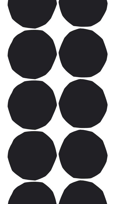 #ConvertToBlack  Isot Kivet (Big Stones), Design: Maija Isola for Marimekko