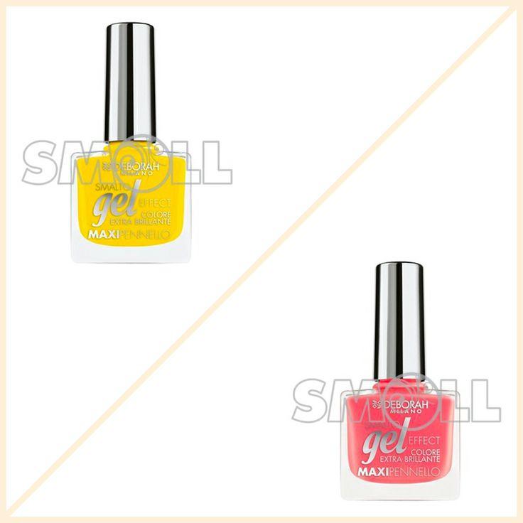 Smalto giallo o rosa? Deborah Smalto Gel Effect  #nails #summer