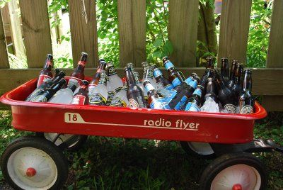 Little Red Wagon + Cooler ... all you need