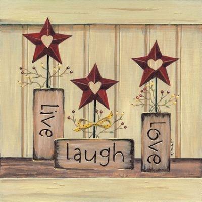 Live, Laugh, Love   Karen Tribett   Fine Art Print  Kitchen Art Prints And  Posters