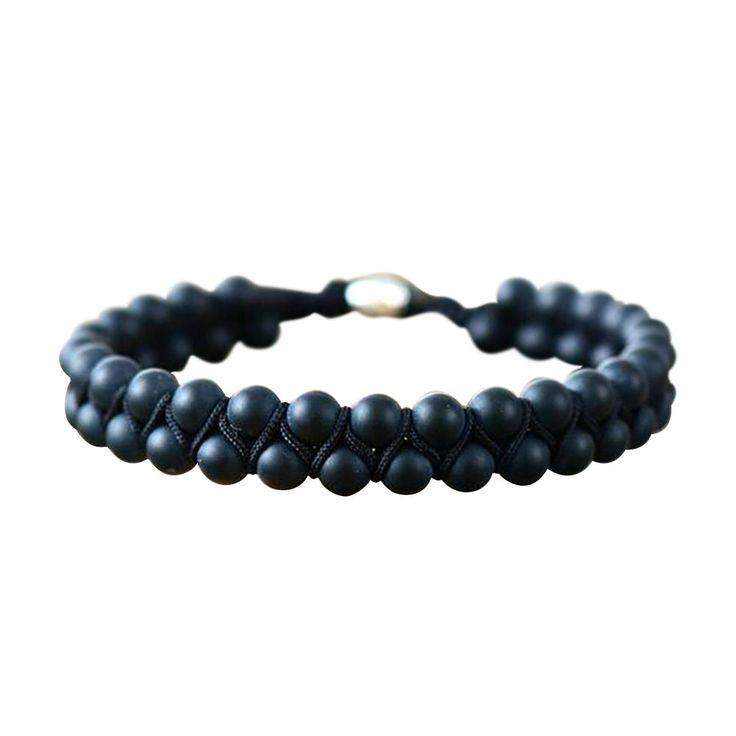 Onyx Stone Shamballa Bracelet