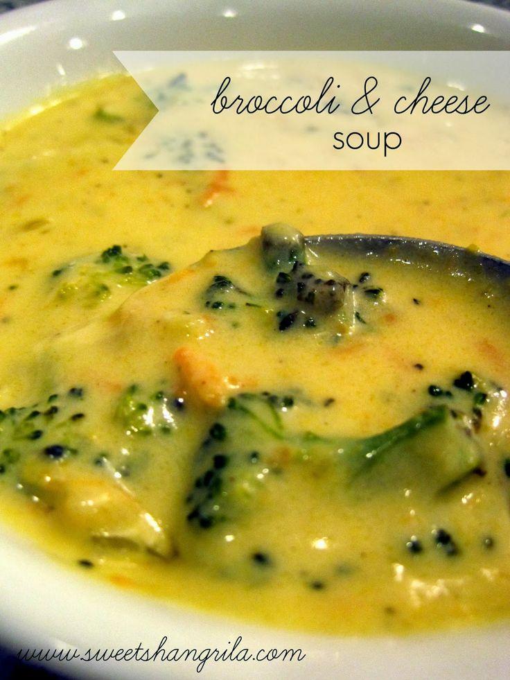 Broccoli & Cheese Soup Recipe... similar to Panera's!