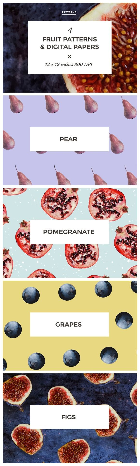 Fruit Patterns & Digital Papers by Design Co. on Creative Market