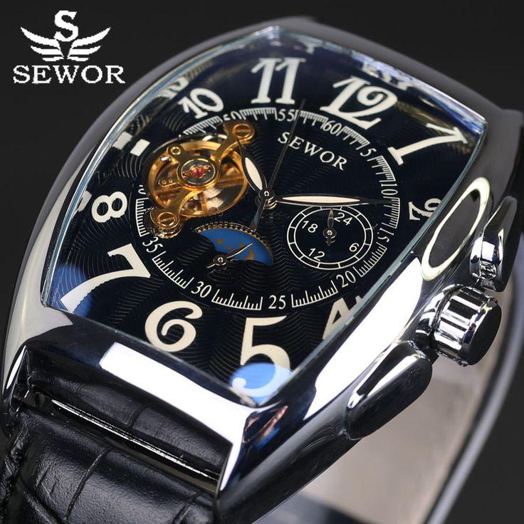 Новый relojes хомбре винтаж кожа марка Relogios Masculino Часы Механические автоматические часы Мода Роскошные Часы Tourbillon Часы #CLICK! #clothing, #shoes, #jewelry, #women, #men, #hats, #watches