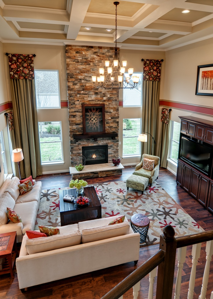 Great Rooms Tampa Part - 27: Great Room With Stone Fireplace :: M/I Homes Cincinnati Model - Estates At