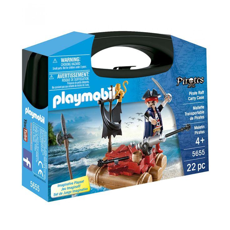 Playmobil Carrying Case Small Pirates; maletín portátil de cuenta con el tema de Piratas.