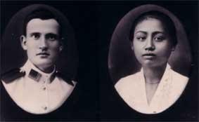 Piet Scholte en Djemini, de ouders van Lin Scholte.