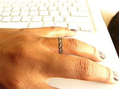 Wedding ring tattoos. Fits under jewelry, but is a good way to wear a ring at the beach, the gym, work, etc.