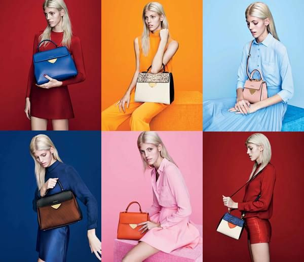 Devon Windsor is the face of COCCINELLE Spring 2015 campaign featuring the new B14 bag.