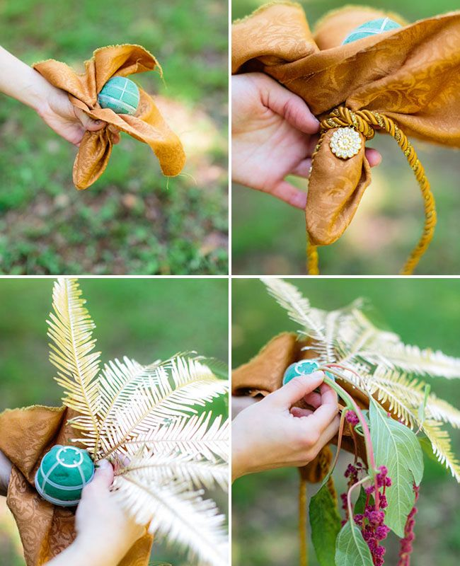 DIY - Bouquet with a hidden water source by Amanda of Anthomanic exclusively for GWS + Melissa Arlena Photography - via greenweddingshoes