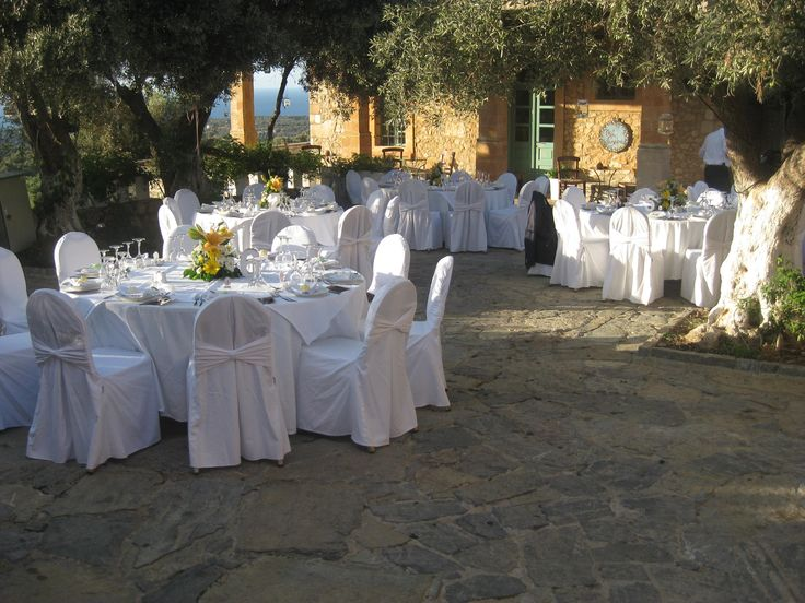 wedding decoration and table set up