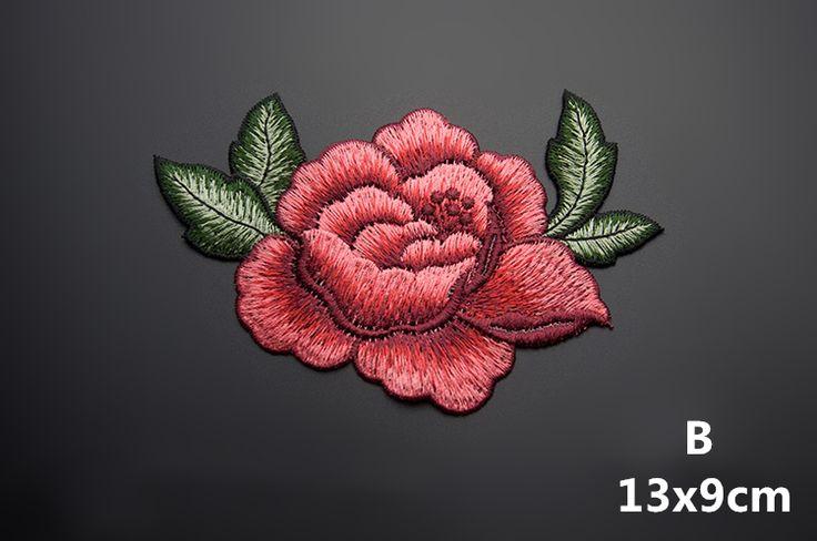 13*9 см 3D роуз пион цветок патч Вышитые одежды Аппликации пришить Патчи Одежда cheongsam свадебное платье Аксессуар купить на AliExpress