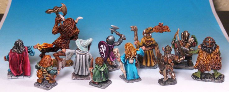 Heritage Miniatures - figures from the dawn of time - Back.