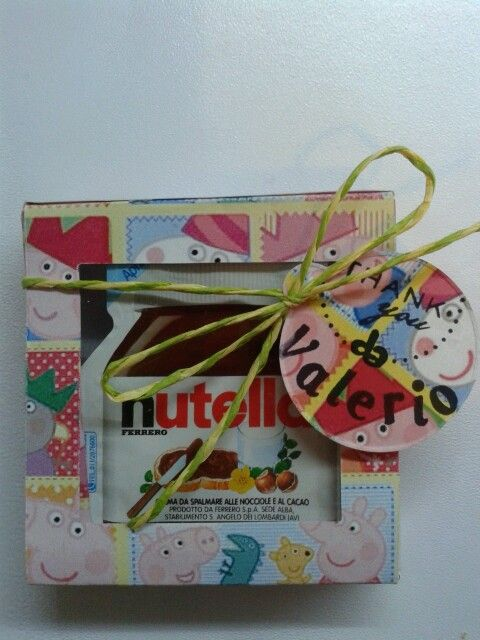 party favors nutella peppa pig