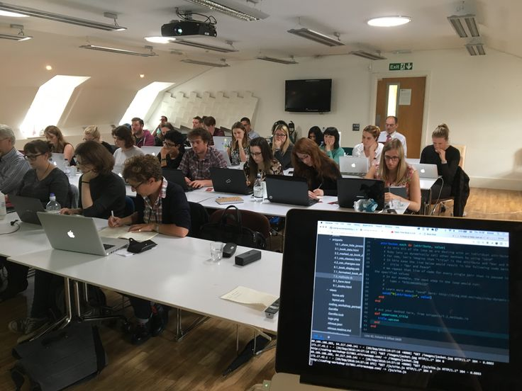 Delegates at our Coding Course, at Faber