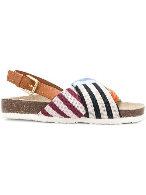 3c65c1a5df81 Tory Burch striped strap sandals