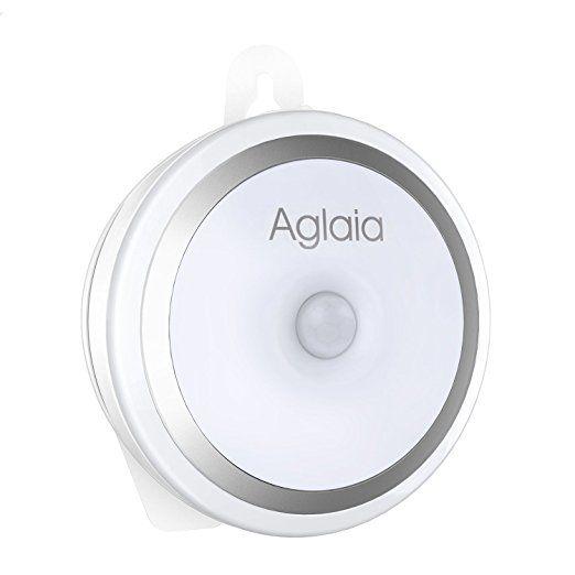 Aglaia Lampada da Parete con Sensore di Movimento, Luce per Armadio 5 LED Ricaricabile con 2 Modalità d'Illuminazione, Lampade per Scale, Corridoio, Guardaroba, ecc.