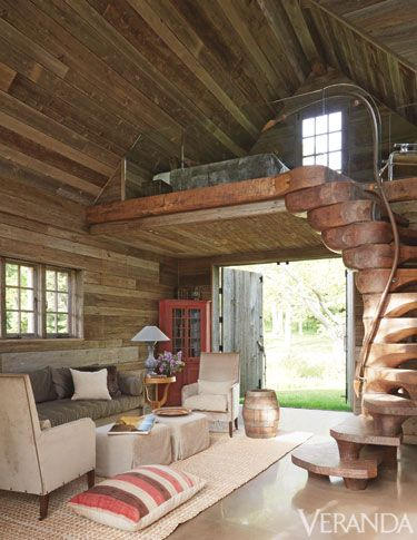 Safari inspired home studio interior arts and crafts for Barn loft homes
