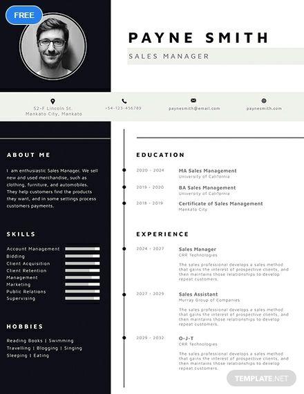 Free Corporate Resume Miller Resume templates, Resume design