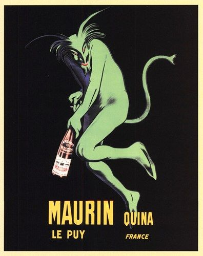 Arts Deco Absinthe poster | Maurin Quina, Poster by Leonetto Cappiello, Extra Small (paper size 8 ...