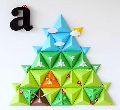 Jesussauvage paper pyramid advent calendar