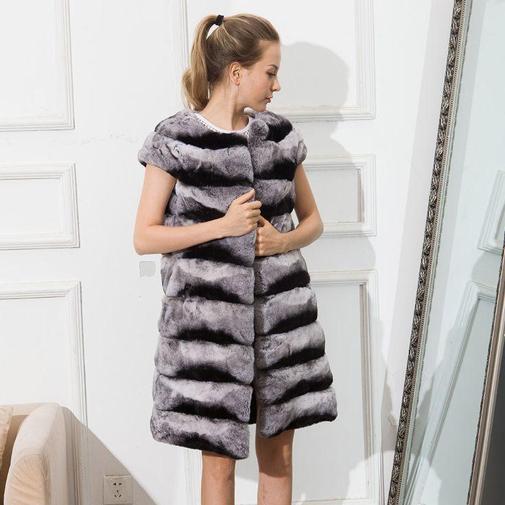 CNEGOVIK 2016 women's real fur vest chinchilla Rex rabbit fur waistcoat lady. Yesterday's price: US $446.00 (367.19 EUR). Today's price: US $214.08 (176.25 EUR). Discount: 52%.