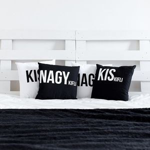 Kiskifli & Nagykifli párnák elérhetőek a webshopban - www.tras.hu #trasdesign #tras #trashome #interior #pillow #kiskiflinagykifli #designer #home