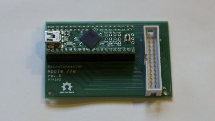 The awesome RetroConnector keyboard shield for Apple IIe connects the keyboard of a classic Apple IIe to a modern system.