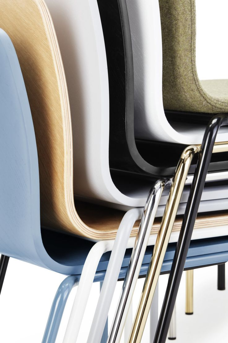les chair les chair An essential profile that says 'less is more'. Transparent in form and with stacking capability, the possibilities are in the details. How do you like to sit? materials frame—mild or stainless steel seat—oak veneer finishes frame (mild steel)—white, grey, black, wedgewood blue frame (stainless steel)—silver, gold seat (painted)—white, grey, black, wedgewood blue seat (natural)—oak