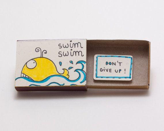 Don't Give Up Good Luck Card Matchbox/ Gift box