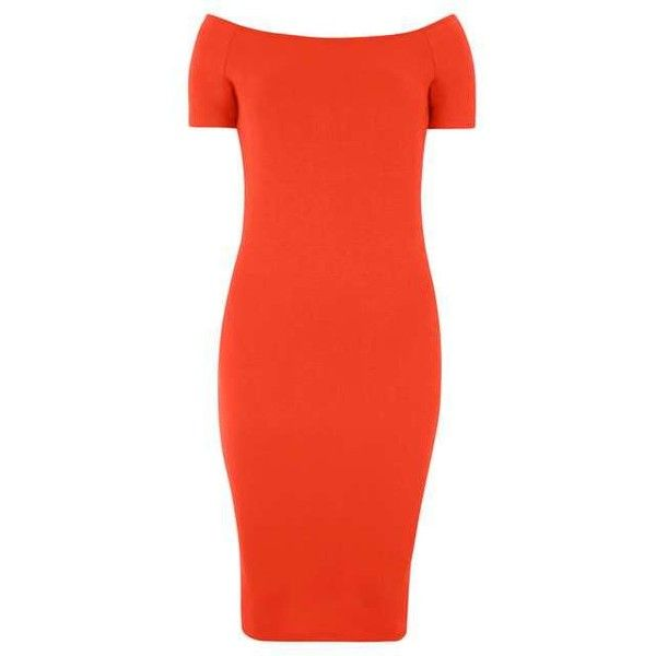Red Bardot Bodycon Dress (1.810 RUB) ❤ liked on Polyvore featuring dresses, dorothy perkins dress, body conscious dress, bodycon cocktail dress, red dress and red cocktail dress