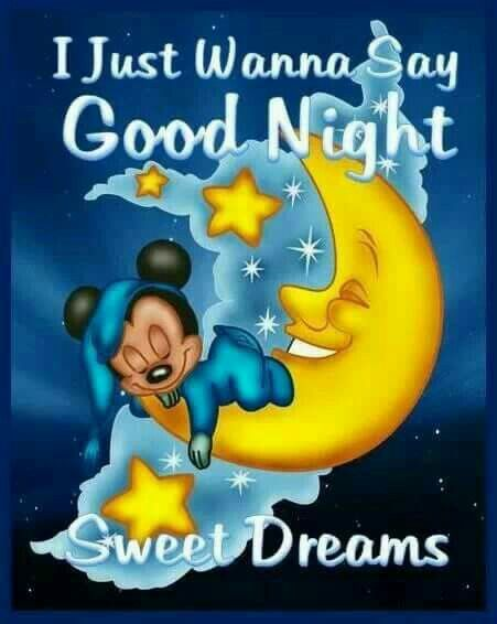 Mickey mouse good night sweet dreams