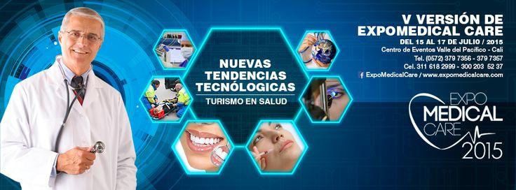 #ExpomedicalCare 2015 Showroom Internacional del Suroccidente Colombiano en equipamiento médico de alta tecnología, avances médicos y de servicios, desarrollándose como la vitrina más grande de Latinoamérica para ruedas de negocios, así como también venta de productos y servicios.