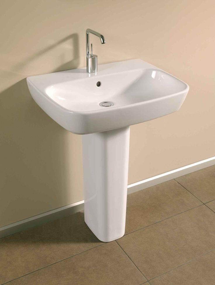 4383 Washbasin, 65cm - 4386 Pedestal